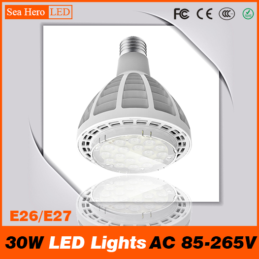 PAR30 30W LED Lights High-end Newest Professional Lamps and lanterns E26 E27 AC 85-265V Cree chips 18 led/PC<br><br>Aliexpress