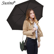Susino Umbrellas Auto Open & Close Sturty Windproof Umbrella Metal Pongee Compact Waterproof Travel Umbrella S3511pm