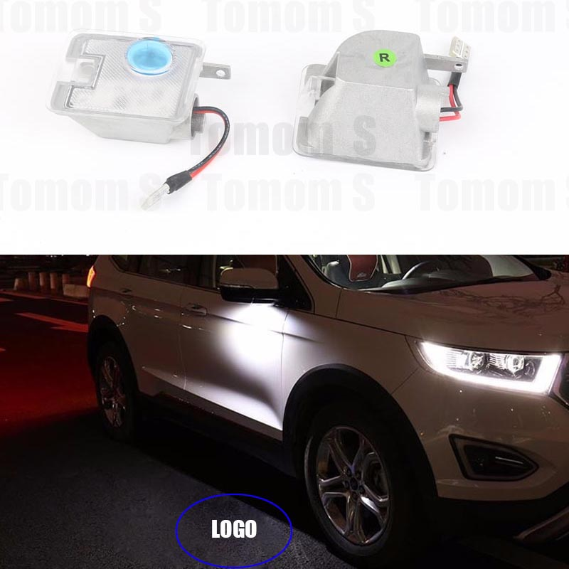 2x Car Rear Mirror ghost shadow LOGO light Welcome LED Ghost Shadow Projector Light For Ford Kuga Focus car styling LED bulbs<br><br>Aliexpress