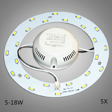 5X Newest 5W 12W 15W 18W 23W LED Ring PANEL Circle Light AC220v - 240V SMD 5730 LED Round Ceiling board the circular lamp board