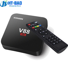 SCISHION V88 Android Amlogic S905X 4K TV Box RK3229 Mali-400 1G RAM 8G eMMC H.265 WiFi Set Top Box 3D Media Player