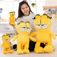 1pc 20cm Free shipping Hot Selling! Cartoon Toy Plush Garfield Cat Plush Stuffed Toy High Quality Soft Plush Figure Doll