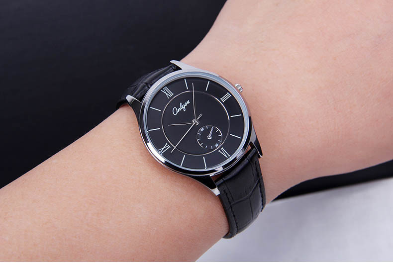 Wrist Watches for Men &amp; Women Genuine Leather Watch Gold Silver Round Case Japan Quartz Analog Relogio Masculino Feminino 8891<br>