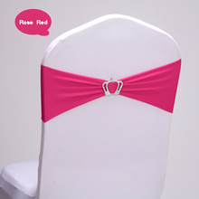 High quality 50PCS Party Suppliers Crown Princess Chair Sashes Elastic Chair band New Year mariage manualidades Pink Rose Red