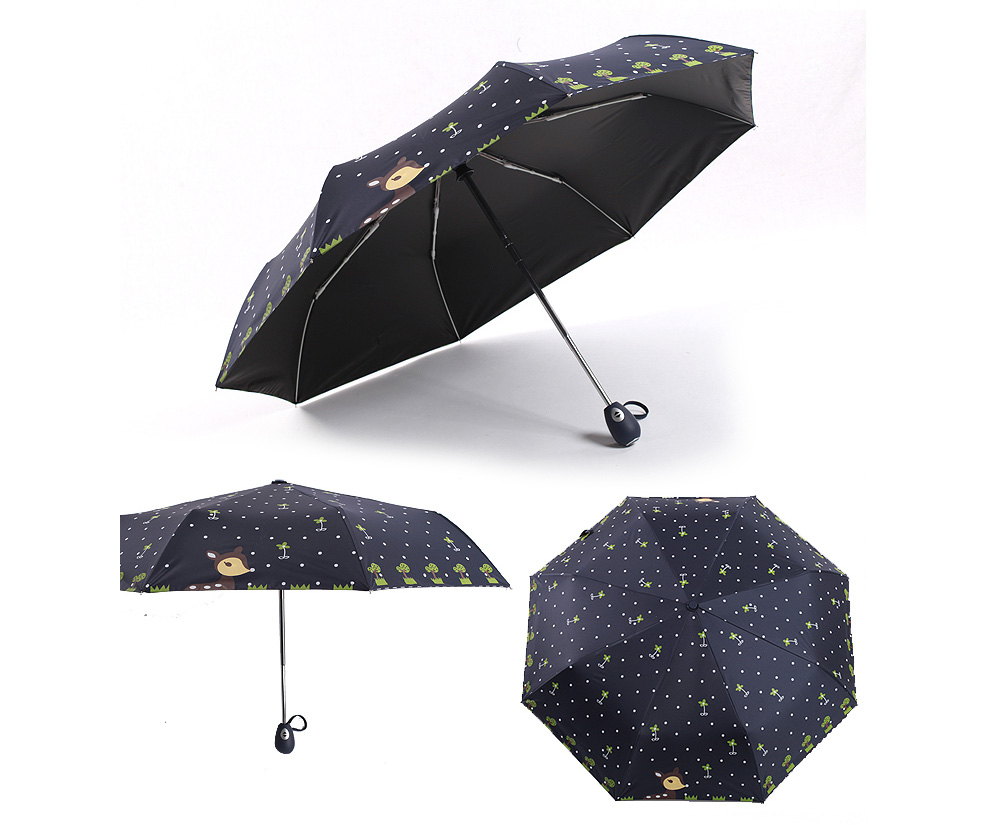 Fully Automatic Children Umbrella Small Fresh Boys Girls Folding 1990 Honda Accord Fuse Diagram Submited Images Pic 2 Fly Kids Black Coating Sunscreen Sunny And Rainy Us960