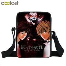 Anime Death Note Mini Messenger Bag Young Men Women Daily Bag Character L.Lawliet / Ryuuku / Yagami Light Book Bag Kids Gift Bag(China)