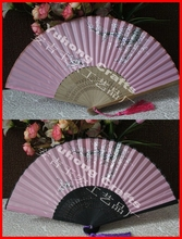 50pcs/lot Chinese Style Bamboo Silk Folding Fan Snow Plum Flowers Printing Hand Fan Wedding/Home/Party Decors Fan