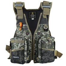 Safety Life Jacket Digital Camouflage Water Sport Professional Life Vest Survival Suit Water Safety Tool Sailing Fishing Clothes