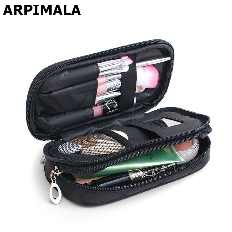 Small Cosmetic Bags Makeup Bag Women Travel Toiletry Bag Professional Storage Brush Necessaries Make Up Organizer Case Beauty<br><br>Aliexpress