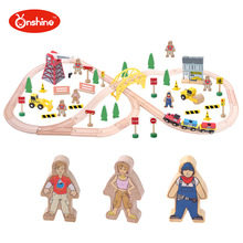 Diecasts Toy Vehicles Kids Toys train Toy Model Cars wooden puzzle Building slot track Rail transit Parking Garage 0033