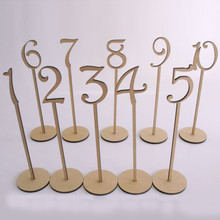 Buy 10pcs/set Wooden Wedding Party Supplies 1-10/11-20/21-30/31-40 Place Holder Table Number Figure Card Digital Seat Decoration for $8.49 in AliExpress store