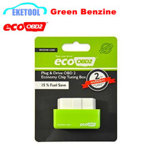 Easy to Use Eco OBD2 Economy Chip Tuning Box 15% Fuel Save Lower Emission EcoOBD2 Benzine Green Keep Remaping Free Shipping