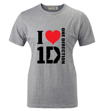 Summer Fashion Casual Cotton T shirt I Love 1D One Direction Band Graphic Women Girl Short Sleeves T-shirt Tops