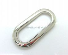 Free Shipping-10 Sets Silver Tone Purse/Handbags Insertion Component Metal Oval Handle Lock DIY Handmade 10.9x5.2cm j3306(China)