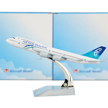 Air New Zealand Boeing 747 16cm airplane models child Birthday gift plane models toys Free Shipping(China)