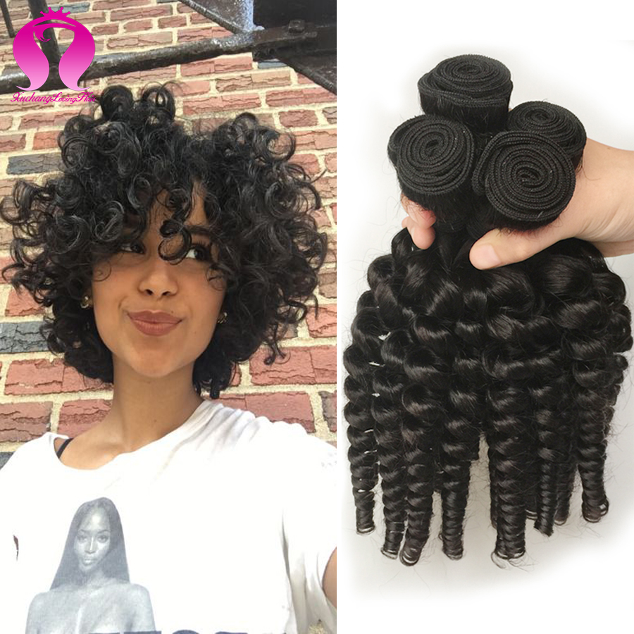 Natural Afro Hair Weave 4 Bundles Mongolian Afro Kinky Curly Hair Bouncy Curly Spring Curl Kinky Afro Human Hair Extensions<br><br>Aliexpress