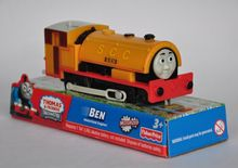 BEN train, yellow, Electric Thomas And Friend Trackmaster Engine Motorized Train - Henry & Truck , Plastic Toy Train