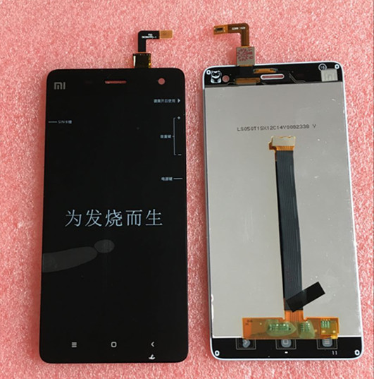 100% tested LCD screen display + Touch digitizer For XIAOMI 4 M4 MI4 white or black free shipping<br><br>Aliexpress