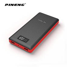 Pineng 20000mAh Power Bank 5V/2.1A Powerbank LED Display External Battery Poverbank Dual USB Portable Charger PN-969(China)