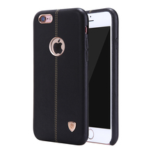luxury brand Nillkin mobile case PU Leather back Cover Vintage leather PC case for iphone 6 s cover accessories car phone holder(China)