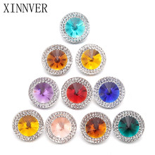 Buy 10pcs/lot Mixed Style Snap Jewelry Colorful Crystal Round 18mm Resin Snap Buttons fit Snap Bracelet Bangles for $1.17 in AliExpress store