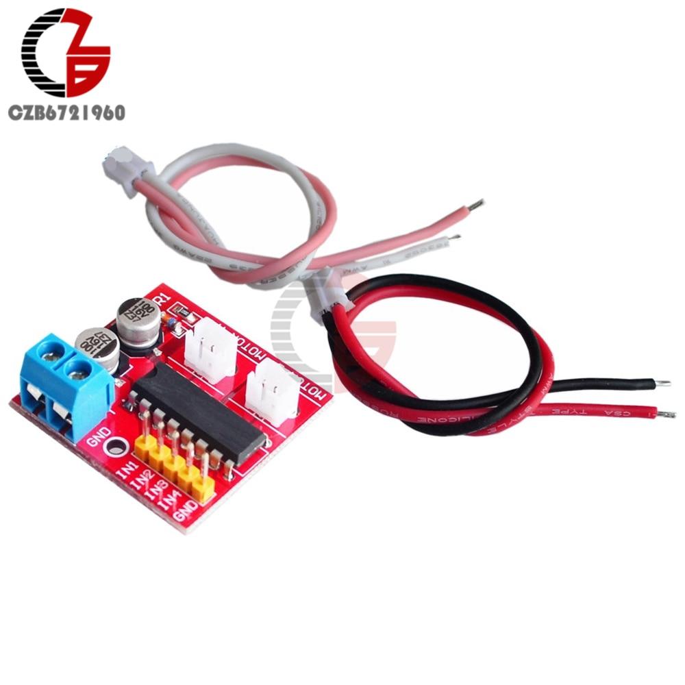5PCS 1.5A Mini Dual Channel DC Motor Driver Module L298N PWM Speed Control NEW T