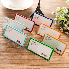 75*37mm customized office name tag holders pc abs material cheap price various magnetic chest cards holder #170310_a9