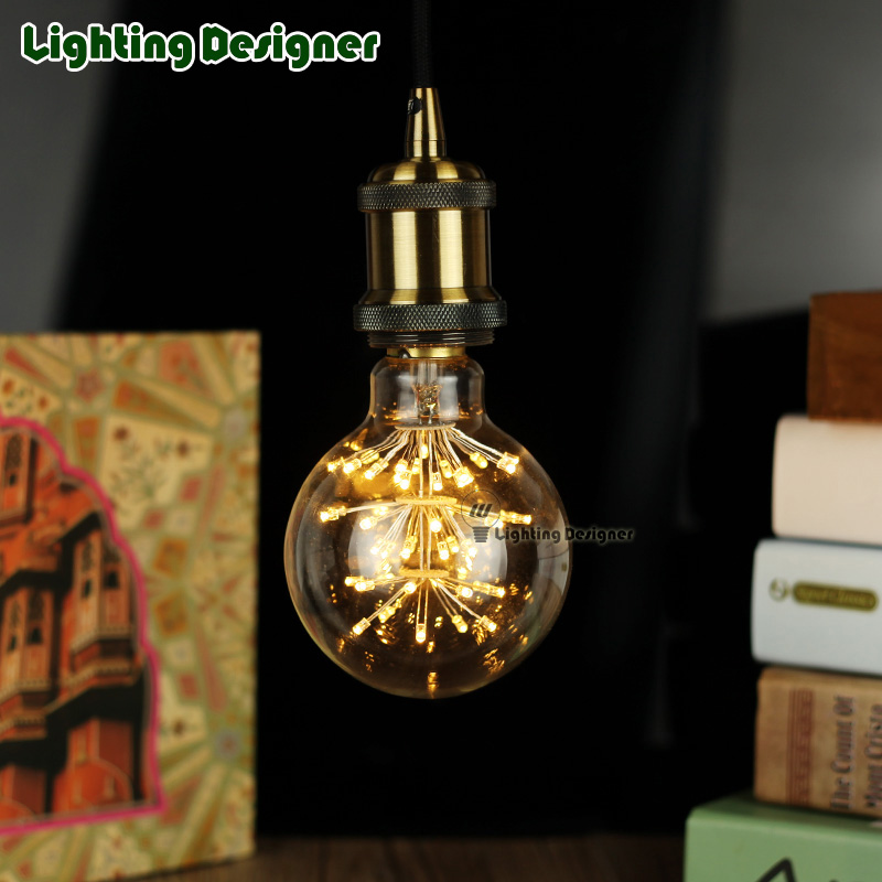 G95 LED vintage lamp bulb night light bulb holiday light stylish DIY bulb 220V 3W pendant lamp droplight bulb<br><br>Aliexpress
