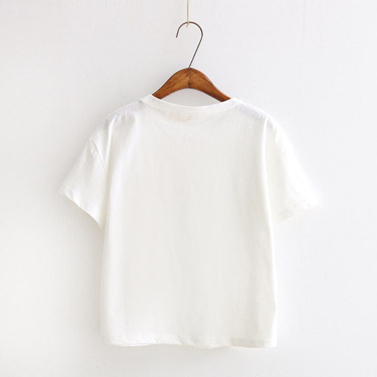 white pink color print camisetas 19 women summer kawaii short sleeve t-shirts dream up harajuku casual cotton tops tee shirt 3
