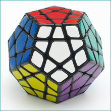 Shengshou Megaminx Magic Cubes Professional Pentagon 12 Sides Gigaminx PVC Sticker Dodecahedron Toy Puzzle Speed Twist(China)