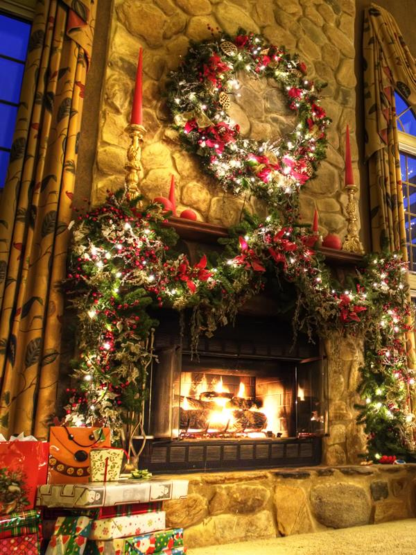 Christmas Fire Fireplace photo backdrop High-grade Vinyl cloth Computer printed christmas Backgrounds<br><br>Aliexpress
