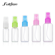 Fulljion 1 Pcs Mini Plastic Transparent Small Empty Spray Bottle For Make Up And Skin Care Refillable Random Color Travel use(China)