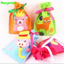 Happyxuan 5pcs/lot 12*18cm DIY Felt Fabric Craft Storage Pocket Non-woven Cloth  Kids Handicraft Educational Kindergarten Toys