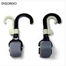 DYSONGO Stroller Hook Hanger Pothook Baby Stroller Pram Double Rotate Hook Pushchair Hanger Stainless Steel Shaft 2PCS/Lot