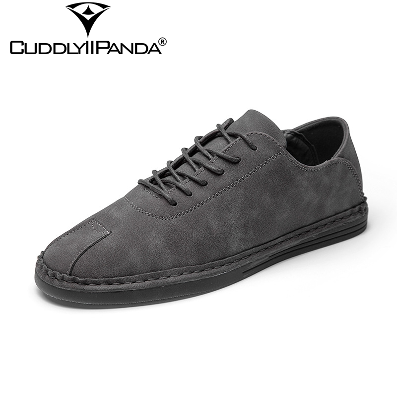 CuddlyIIPanda 2018 Spring Manual Stitching Men Casual Shoes Handmade Driving Shoes High Quality Leisure Sneakers Drop Shipping<br>