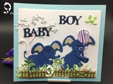 METAL CUTTING DIES die cup build up elephant animal baby pet zoo Scrapbook card album DIY PAPER CRAFT emboss stencils template(China)