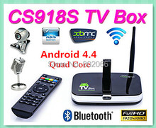 Quad Core Allwinner A31S 2GB/16GB Android 4.4 TV Box CS918S Built in 5.0MP Camera Mic Bluetooth RJ45 4k player xbmc Freeshipping