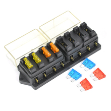 32V 8 Way Circuit Blade Fuse Box Auto Car Balde Fuse 5A 10A 15A 20A Fuse Insurance Kit Blade Fuse Box Holder for SUV Truck Boat(China)