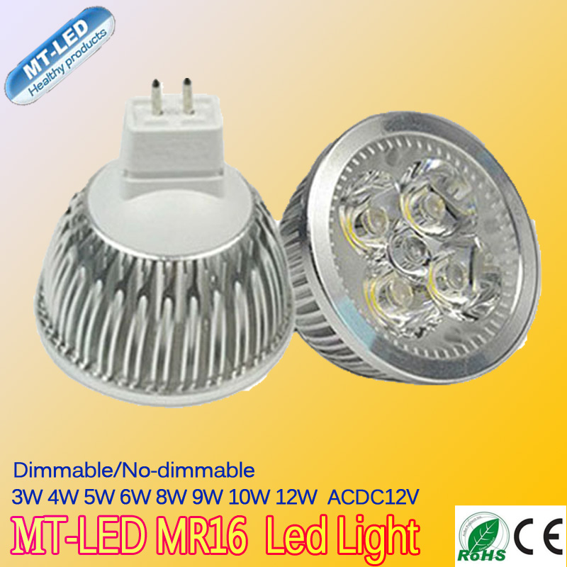 10PCS High power CREE Led Lamp Dimmable MR16 3W 4W 5W 6W 8W 9W 10W 12W 12V Led spot Light Spotlight led bulb downlight lighting<br><br>Aliexpress