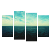 4PC green light on the ocean set paints Wall painting print on canvas for home decor ideas paints on wall pictures art No framed