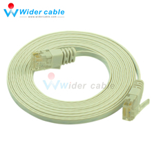 Best Sell Flat CAT6 Lan Cable White Bare Copper Ethernet Lan Cord 3m 1.1mm thickness