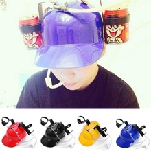 1Piece Beer Can Holder Straw Helmet Drinking Hat Cool For Party holiday Game 4 Colors