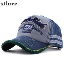Xthree hot retro baseball cap fitted cap snapback hat for men gorras casual casquette Letter embroidery(China)