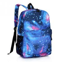 Supreme Multicolor Women Canvas Backpack Stylish Star Universe Space Backpack Girls School Backbag Mochila Feminina(China)