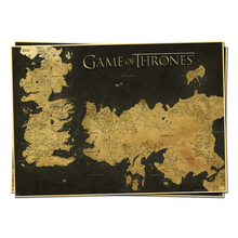 game of thrones map of westeros essos huge television posters retro poster vintage home decor adornment character Wall Sticker
