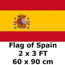Spain Flag 2` x 3` FT 100D Polyester 2018 World Cup Espana Bandera Spanish Flags and Banners Country Banner National Flag