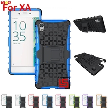 LELOZI Cheap Armor Rugged Hybrid Hard PC Plastic TPU ShockProof Phone Phon Cell Case Bag Cove For Sony Xperia XA X A F3113 F3112