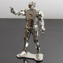 3D Stereoscopic Iron Man Scale Models / DIY Metal Crafts Assembled Nano-dimensional Puzzle / Bar Creative Models(China)