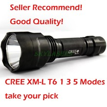 highly recommend! Good Quality UniqueFire C8 Cree XM-L T6 2000 LM 5 Modes Memory Led Flashlight Free Shiping