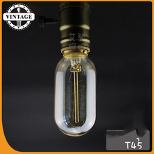 LightInBox T45 Tungsten Bulb E27 Globe Edison Ligh Vintage Retro Antique Industrial Style Lamp Bulb Home Incandescent Bulbs(China)